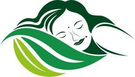 Logotipo do sono de Eco Imagens de Stock Royalty Free