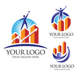 Logotipo do sucesso Foto de Stock Royalty Free