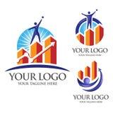 Logotipo do sucesso Foto de Stock Royalty Free