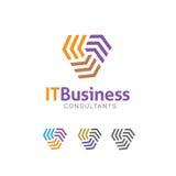 logotipo do sumário 3D que assemelha-se às letras E Imagem de Stock