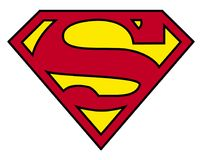 Logotipo do superman ilustração do vetor