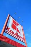 Logotipo do supermercado de Kaufland Imagens de Stock