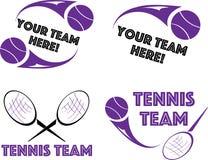 Logotipo do tênis para o projeto da camisa ou da equipe, grupo de quatro Fotografia de Stock