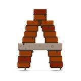 Logotipo do tijolo do vetor da letra Imagens de Stock Royalty Free