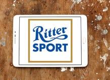 Logotipo do tipo do chocolate do esporte de Ritter imagem de stock