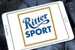 Logotipo do tipo do chocolate do esporte de Ritter foto de stock