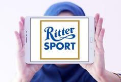 Logotipo do tipo do chocolate do esporte de Ritter imagens de stock