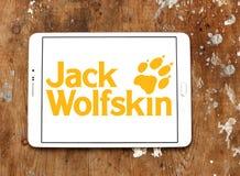 Logotipo do tipo da roupa de Jack Wolfskin Fotos de Stock Royalty Free