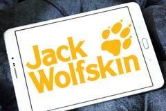 Logotipo do tipo da roupa de Jack Wolfskin Foto de Stock