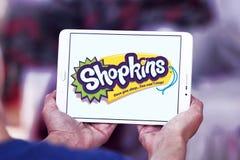 Logotipo do tipo de Shopkins Imagens de Stock