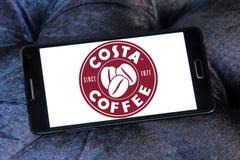 Logotipo do tipo do café da costela Fotos de Stock Royalty Free