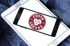 Logotipo do tipo do café da costela Fotos de Stock