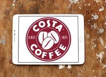 Logotipo do tipo do café da costela Fotografia de Stock Royalty Free
