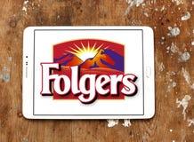 Logotipo do tipo do café de Folgers Imagens de Stock