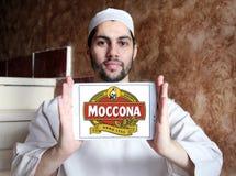 Logotipo do tipo do café de Moccona Fotos de Stock