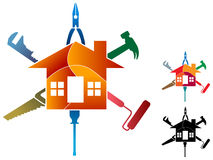 Logotipo do trabalho da casa Imagens de Stock