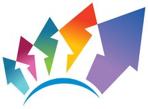 Logotipo do transporte Foto de Stock