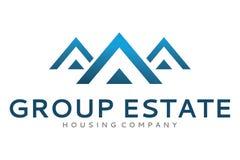 Logotipo do triângulo do grupo Fotografia de Stock
