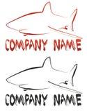 Logotipo do tubarão Fotografia de Stock