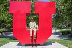 Logotipo do ` do ` U da Universidade de Utah Imagens de Stock