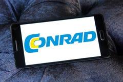 Logotipo do varejista da eletrônica de Conrad foto de stock