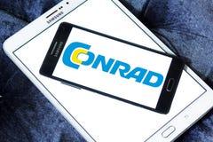 Logotipo do varejista da eletrônica de Conrad fotos de stock