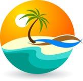 Logotipo do verão Fotografia de Stock Royalty Free