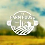 Logotipo do vetor da casa da exploração agrícola Foto de Stock Royalty Free