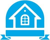 Logotipo do vetor da casa pequena ilustração stock