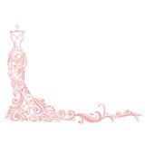 Logotipo do vetor da ilustração do boutique do vestido ilustração royalty free
