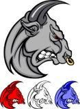 Logotipo do vetor da mascote de Bull Imagem de Stock Royalty Free