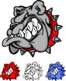 Logotipo do vetor da mascote do buldogue foto de stock royalty free