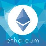 Logotipo do vetor da moeda do cripto de Ethereum Fotos de Stock