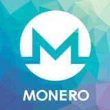 Logotipo do vetor da moeda do cripto do blockchain de Monero XMR Fotografia de Stock