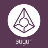 Logotipo do vetor da moeda do cripto do blockchain do representante do adivinho Fotos de Stock Royalty Free