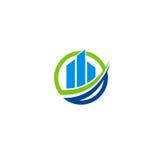 Logotipo do vetor da sociedade financeira do negócio Fotografia de Stock Royalty Free