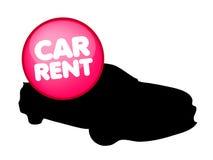 Logotipo do vetor do aluguer de carros ilustração do vetor