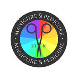 Logotipo do vetor do tratamento de mãos ilustração stock