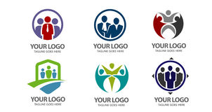 Logotipo do vetor dos povos ilustração do vetor