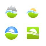 Logotipo do vetor dos produtos naturais Fotografia de Stock Royalty Free
