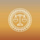 Logotipo do vetor e sinal jurídicos e legais Fotos de Stock