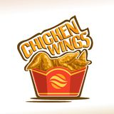 Logotipo do vetor para as asas de galinha Imagens de Stock