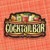 Logotipo do vetor para a barra do cocktail ilustração stock