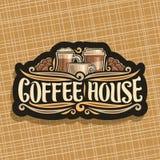 Logotipo do vetor para a casa do café ilustração royalty free