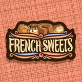 Logotipo do vetor para doces franceses Fotografia de Stock