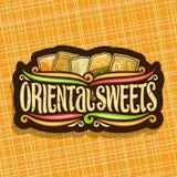 Logotipo do vetor para doces orientais Foto de Stock Royalty Free