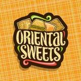 Logotipo do vetor para doces orientais Imagem de Stock