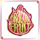 Logotipo do vetor para Dragon Fruit ilustração stock