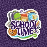 Logotipo do vetor para a escola Foto de Stock Royalty Free