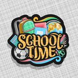 Logotipo do vetor para a escola Fotografia de Stock